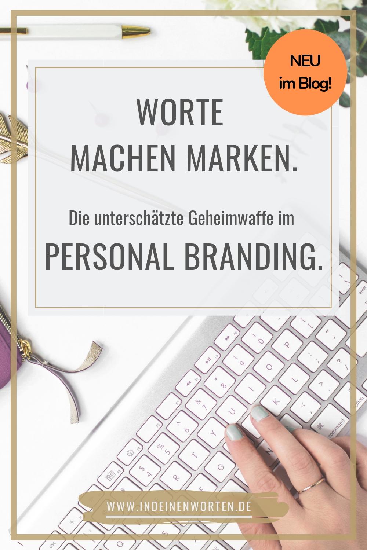 Personal Branding beginnt bei Texten mit Persönlichkeit. Tschüss, austauschbares Business-Sprech! So positionierst Du Dich einzigartig als Coach. #indeinenworten