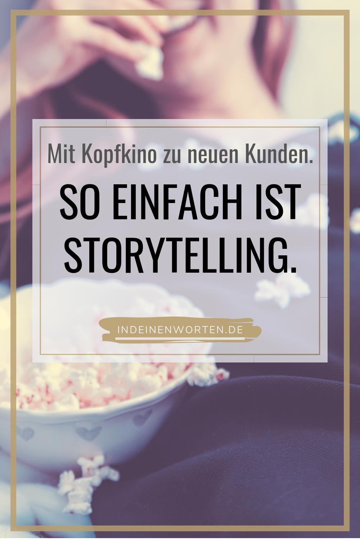 """Storytelling ist eine Methode, die wir alle beherrschen. Denn wir tun """"es"""" jeden Tag: Geschichten erzählen. Hier verrate ich Dir die 4 wichtigsten Regeln, um in mitreißenden Geschichten Texte über Deine Expertise zu schreiben. #indeinenworten"""